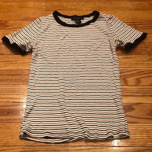 Forever 21 striped fitted shirt